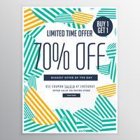 modèle de brochure de remise promotionnelle vente moderne tendance avec un