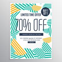 Rabatt-Broschürenvorlage des modernen trendy Verkaufs fördernd mit a