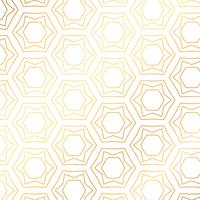 Star and hexagon shapes golden pattern background. Golden backgr