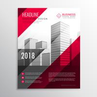 abstract brochure flyer design template in red colors style
