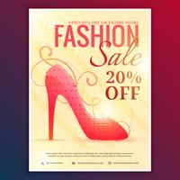 fashion sale discount voucher with red sandal