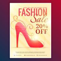 Rabatt-Gutschein für Modeverkauf mit roter Sandale