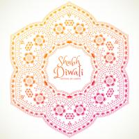 shubh diwali festival mandala kunst