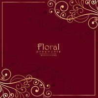 décoration florale ornementale sur fond rouge