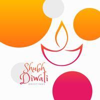 festival coloré de diwali moderne fond coloré