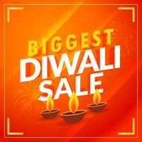 amazing biggest diwali sale discount promotional template