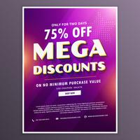 discount voucher with purple background