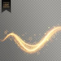golden light shimmer effect background