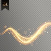 efeito de luz de brilho dourado