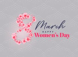 creative happy women's day vector background