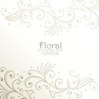 elegant floral decoration background design