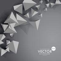 gray background with 3d floating polygons