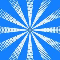Fondo de rayos de semitono en color azul