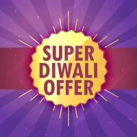 super diwali sale offer design template