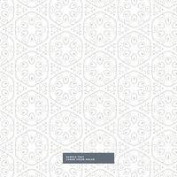 patrón floral increíble sobre fondo blanco
