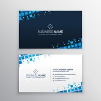abstrakte Visitenkarte mit blauen Mosaikformen