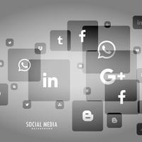 grå bakgrund av social media logo