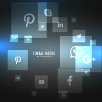 social networks icons on gray background