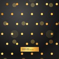 schwarzer Hintergrund mit goldenen Tupfen