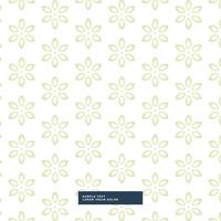 Fondo de patrón de flor verde