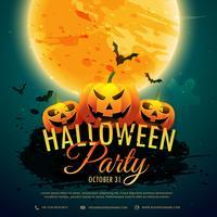 Halloween-festival partij achtergrond