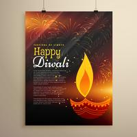 festival celebration flyer design for diwali season