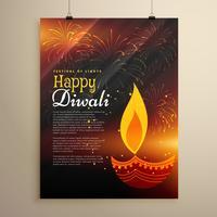 projeto de panfleto de celebração festival para a temporada de diwali