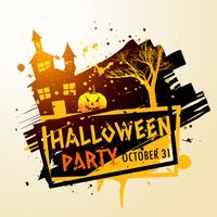 griezelige halloween partij viering achtergrond