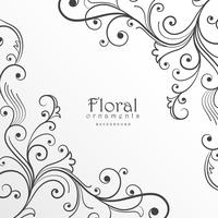 modelo de design floral fundo