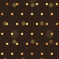 fundo marrom com pontos de estilo de polca dourada