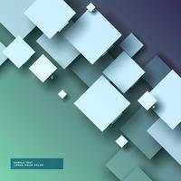 Abstrait 3d élégant avec des carrés