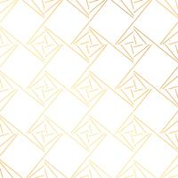 geometrischer goldener Musterhintergrundvektor