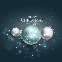 Vrolijk Kerstmis mooi achtergrondontwerp met gloeiende gevolgen