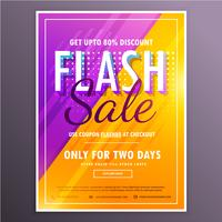 flash sale banner template vector design with bright purple and