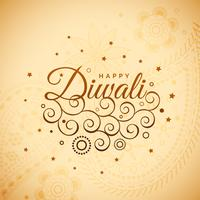 amazing diwali background with floral decoration