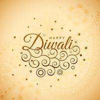 fond de diwali incroyable avec décoration florale