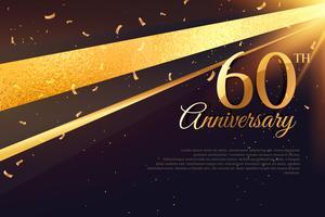 Modèle de carte de célébration du 60e anniversaire