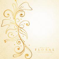 beautiful golden floral background