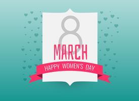 Fondo internacional del día feliz de la mujer.