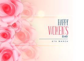 härlig ros bakgrund för lycklig kvinnodag