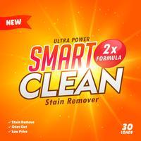 Design-Vorlage für Reinigungs- und Waschmittelverpackungen
