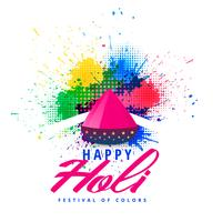 happy holi abstract colorful splash background
