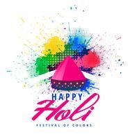 gelukkige holi abstracte kleurrijke plonsachtergrond