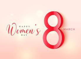 Internationaler Frauentag Poster Design im Origami-Stil mit sein