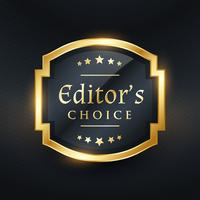 editor's choice golden label design