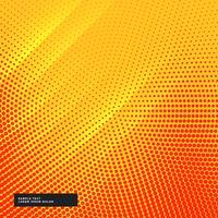 gul bakgrund med cirkulär halvton effekt