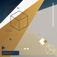 abstrakter geometrischer Memphis-Hintergrund