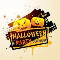 cartel feliz fiesta de halloween