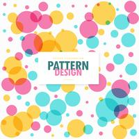 colorful circles dots pattern background