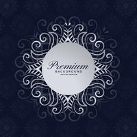 elegant premium mandala ram blommig bakgrundsdesign